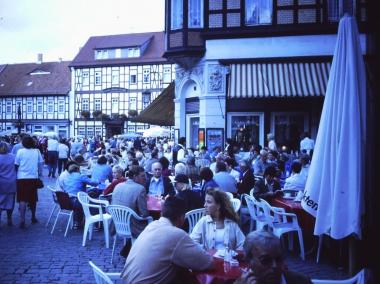 Auf dem Marktplatz in Wernigerode © Wolfgang Grothe
