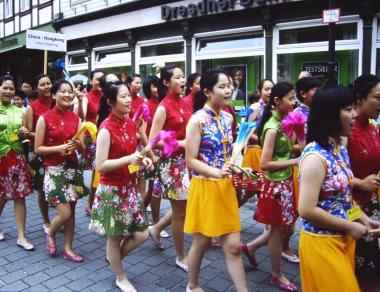 Chinesische Gäste des Musikfestivals © Wolfgang Grothe