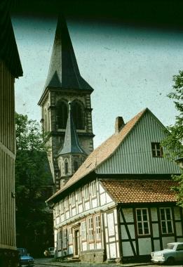 Am Klint mit Sylvestrikirche - Stadtarchiv Wernigerode