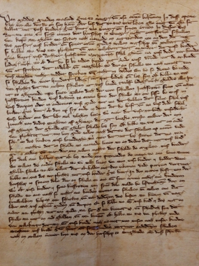 Urkunde von Graf Conrad von Wernigerode - Stadtarchiv Wernigerode WR/I/IV/B/1