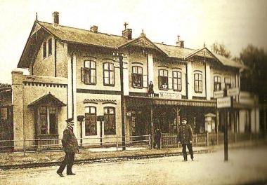 Bahnhof Minsleben 1919 - Stadtarchiv Wernigerode