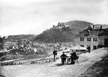 Blick vom Hotel Lindenberg auf Stadt und Schloss - Dieter Oemler