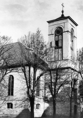 """Neubau der Kirche """"Unser Lieben Frauen"""" nach dem Stadtbrand von 1751 - Dieter Oemler"""