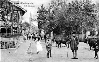 Holfelderplatz und Kaiserstraße in Nöschenrode um 1895    - Dieter Oemler