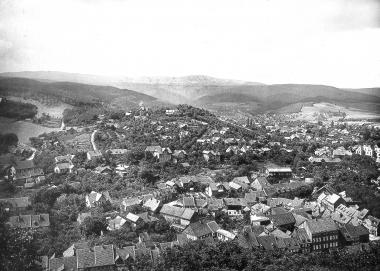 Blick von der Terrasse des Schlosses im Jahr 1891 - Dieter Oemler