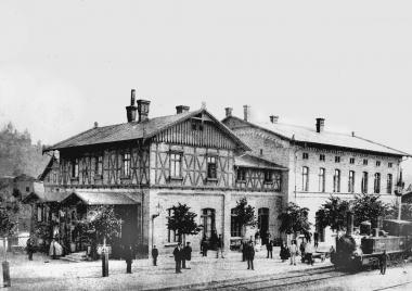 Bahnhofsgebäude 1888 - Dieter Oemler