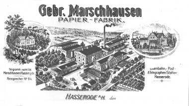 Papierfabrik Gebrüder Marschhausen in Hasserode/Brockenweg - Dieter Oemler