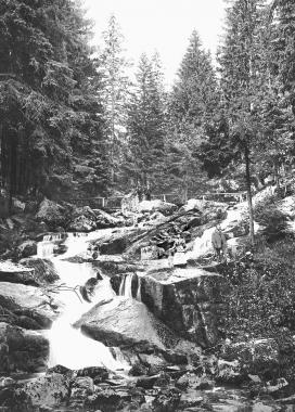 """Zu den schönsten Ausflugszielen gehört der mit 65 Metern höchste natürliche Wasserfall des Harzes, die """"Steinerne Renne"""" - Dieter Oemler"""