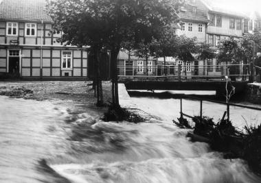"""Hochwasser in Wernigerode an der """"Schönen Ecke"""" nach extremen Niederschlägen - Dieter Oemler"""