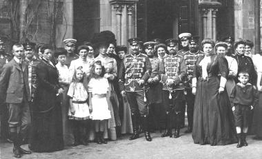Kaiser Wilhelm II. mit seinem Gefolge und der fürstlichen Familie anläßlich des Jagdbesuchs 1904 - Dieter Oemler