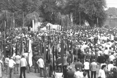 Das ehemalige KZ-Außenlager wird 1975 Mahn-und Gedenkstätte - Dieter Oemler