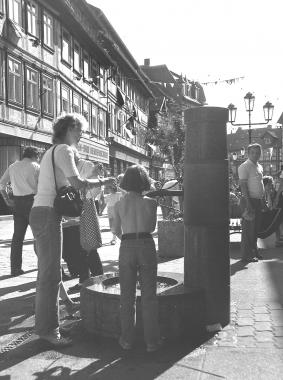 Fußgängerzone 1980 zwischen Marktplatz und Nicolaiplatz - Dieter Oemler