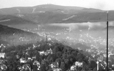 Smog über Wernigerode durch Inversionswetterlage - Dieter Oemler