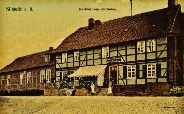 """Gemeindeschenke """"Zum Eichbaum"""" um 1900 in Silstedt - Archiv Silstedt"""