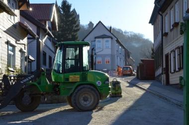 Bauarbeiten in der Großen Bergstraße - Katrin Schröder