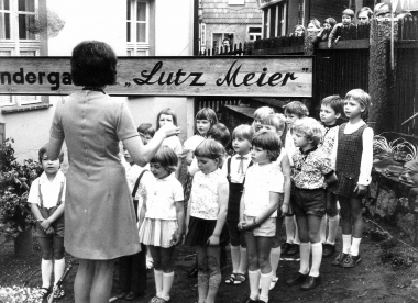 """Kindergarten """"Lutz Meier"""" 1973 - Mahn-und Gedenkstätte Archiv"""