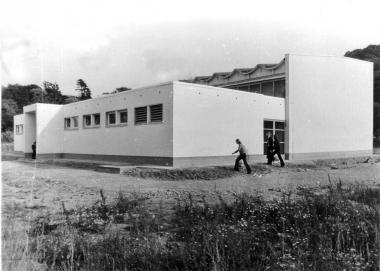 Turnhalle der Maxim-Gorki-Schule 1973 - Archiv Mahn- und Gedenkstätte