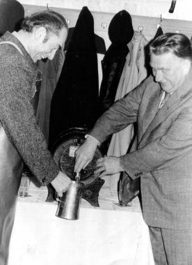Bockbieranstich in der Hasseröder Brauerei - Archiv Dieter Möbius