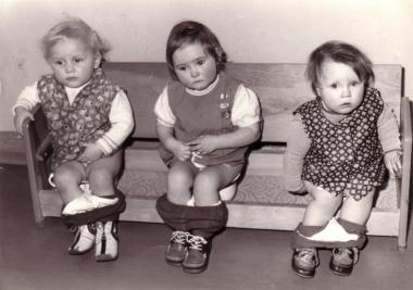 In einer Wernigeröder Kinderkrippe 1978 - Fotothek Harzbücherei