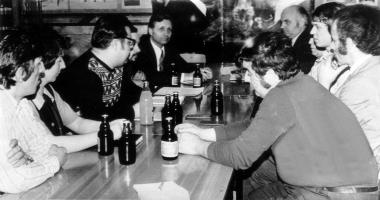 SED-Parteiversammlung in einem Wernigeröder Betrieb - Mahn-und Gedenkstätte Archiv