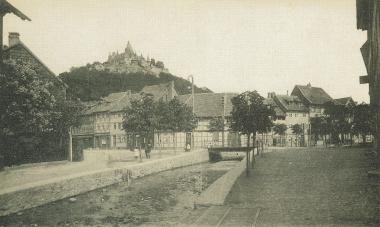 Flutrenne und Schöne Ecke um 1900 - gemeinfrei