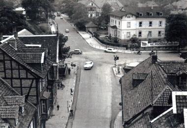 Blick auf die Westerntorkreuzung vom Westerntorturm - Fotothek Harzbücherei