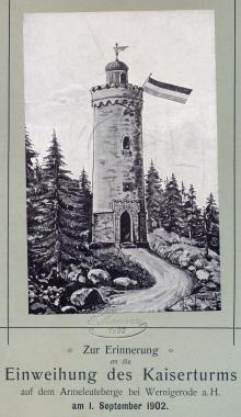 Einweihung des Kaiserturms - Fotothek Harzbücherei