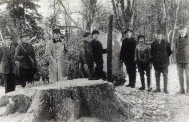 Die Silbertanne im Tiergarten wird im Dezember 1940 gefällt - Fotothek Harzbücherei