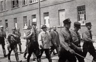 """1948 beginnt der Prozess gegen die für den """"Schandmarsch"""" von 1933 verantwortlichen SA-Leute - Fotothek Harzbücherei"""