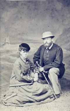 Otto 1. Fürst zu Stolberg-Wernigerode (30.10.1837 - 19.11.1898) mit Frau Anna (1837-1907) - Fotothek Harzbücherei