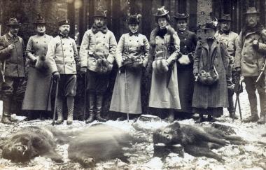 Kaiser Wilhelm als Gast des Grafen Otto 1883 - Fotothek Harzbücherei