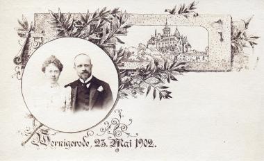 Prinzessin Marie zu Stolberg-Wernigerode, Tochter von Fürst Otto zu Stolberg-Wernigerode, und Prinz Wilhelm Graf zu Solms-Laubach 1902 - Fotothek Harzbücherei