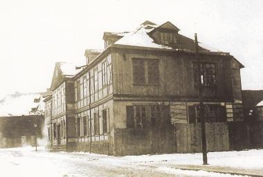 Gräfliche Kanzlei in der Marktstraße oberhalb der heutigen Kanzleistraße um 1900- gemeinfrei