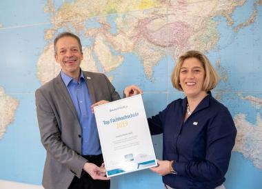 Hochschule Harz ist eine der TOP-Fachhochschulen Deutschlands - 10. Platz im deutschlandweiten Ranking von StudyCheck - Janet Anders