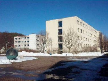 """Auf dem Gelände der """"Fachhochschule Harz"""" werden Neubauten errichtet. © Wolfgang Grothe"""