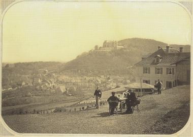 """Blick vom Hotel """"Lindenberg"""" um 1865 - gemeinfrei"""