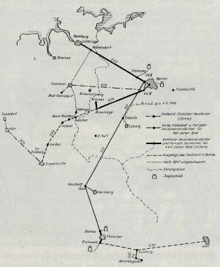 Das deutsche Breitband-Fernkabelnetz nach dem Stande von 1945 - Gerhard Bombös