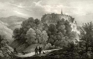 Stahlstich nach einem Bild von Ludwig Richter von Anfang des 19. Jahrhunderts - Stadtarchiv Wernigerode