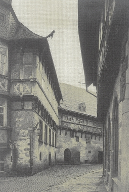 Rathaus mit Klint um 1925 vor dem Umbau - Stadtarchiv Wernigerode