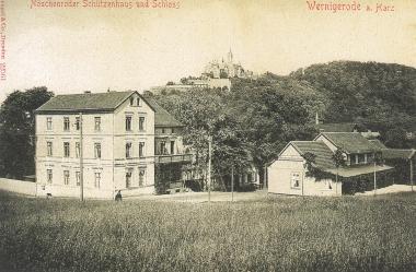 Nöschenröder Schützenhaus am Eingang zum Zwölfmorgental um 1900- gemeinfrei