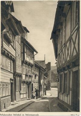 alte Ansichtskarte der Kochstraße - Stadtarchiv Wernigerode PK III 0010