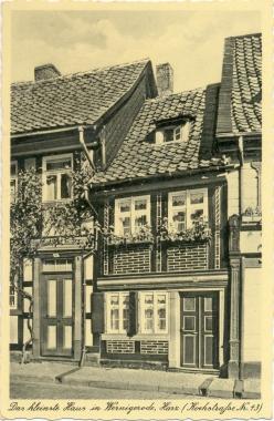 Kleinstes Haus - Stadtarchiv Wernigerode