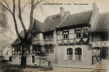 Haus Gadenstedt - Stadtarchiv Wernigerode