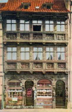 """alte Ansichtskarte des """"Gerlitzhauses"""" - Stadtarchiv Wernigerode PK III 0154"""