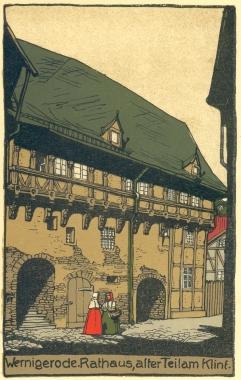 Rathaus, alter Teil am Klint - Stadtarchiv Wernigerode