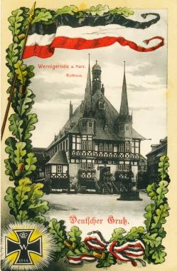 """""""Deutscher Gruß"""" aus dem schwarz-weiß-roten Wernigerode - Stadtarchiv Wernigerode"""