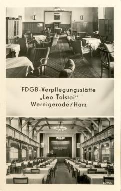"""FDGB-Verpflegungsstätte """"Leo Tolstoi"""" - Stadtarchiv Wernigerode"""