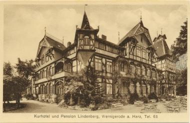 """Hotel """"Lindenberg"""" in den 1920er Jahren - Stadtarchiv Wernigerode"""