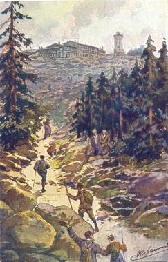 Wanderer zum Brocken Ende 19. Jahrhundert - Stadtarchiv Wernigerode