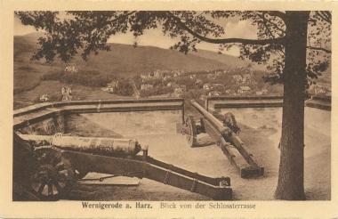 Kanonen auf der Schlossterasse - Stadtarchiv Wernigerode